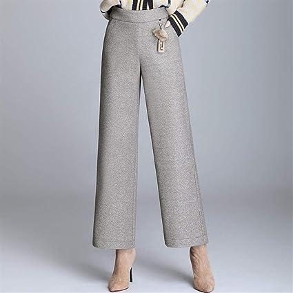 Sra Pantalones Casuales Pantalones De Invierno De La Moda Coreana Nuevos Pantalones Casuales Elastico En La Cintura Alta Cintura De La Manera Delgado Era Sabor Extranjero Delgada Era Pantalones Casua Amazon Es Hogar