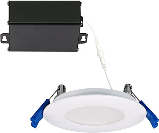 Getinlight Slim Dimmable 3 Inch Led Recessed Lighting Round Ceiling Panel Junction Box Included 4000k Bright White 6w 400lm White Finished Cetlus Listed In 0303 0 Wh 40