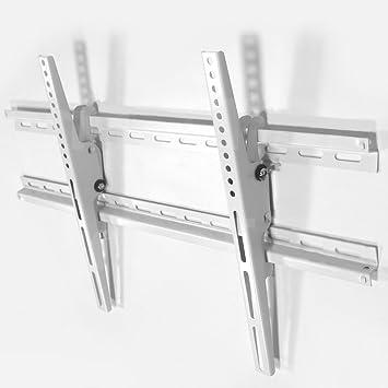 Soporte de montaje en pared para TV (blanco) Inclinación diseño delgado +/- 15 ° conveniente para
