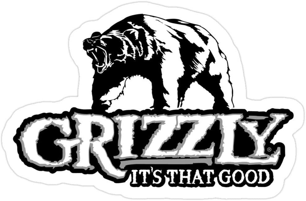 Big Lens store Grizzly Smokeless Tobacco Stickers (3 Pcs/Pack)