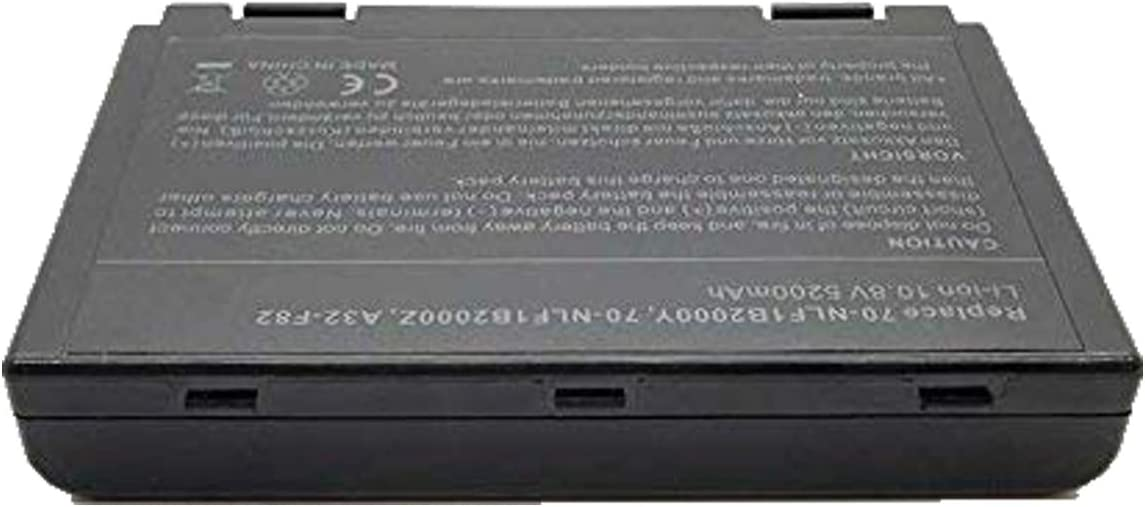 onlyguo 10.8V 5200mAh A32-F82 Bater/ía de Repuesto para ASUS A32-F82 A32-F52 X 5C K40 K40IJ K40IN K50 K50AB K50IJ K50IN K61IC AS-K50 L0690L6 L0A2016 X 70 X5DIJ X5A X5DC