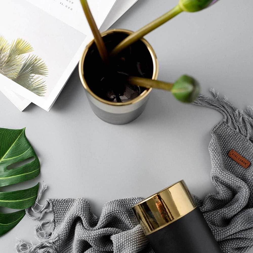 HIOLYU Home Decor 银 Imitation Marble Texture Ceramic Ashtray Art Round Office Home Decor Ashtray