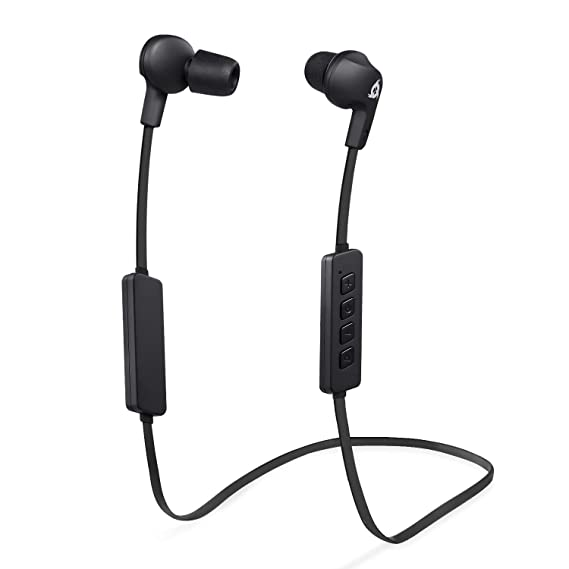 KLIM Pulse Bluetooth Wireless Earbuds – Earphones with Microphone – [New 2019 Version] Headphones