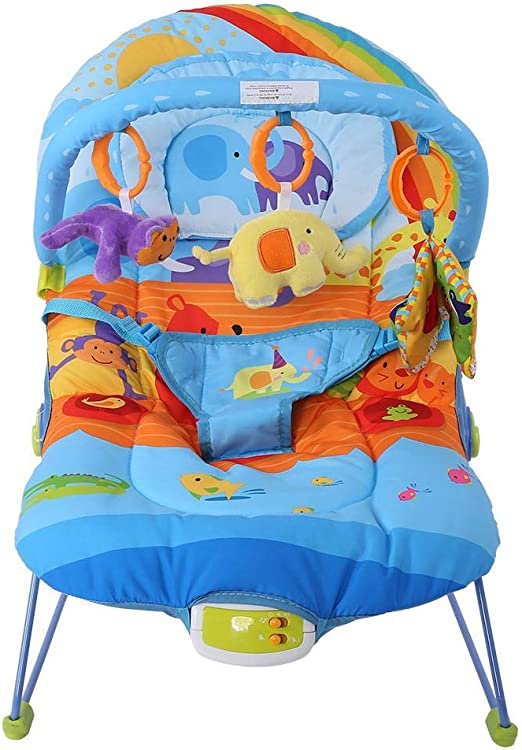 Rainbow lyrlody Baby Rocking Chair,Electric Baby Swing Chair New Born Baby Chairs and Bouncers Baby Infant Toddler Rocker Chair with Music and Hanging Toys,28.7/×22/×19.3inch