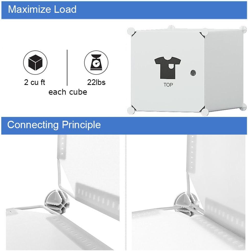 MAGINELS Portable Closet Clothes Wardrobe 14x18 Depth Bedroom Armoire Modular Storage Organizer with Doors