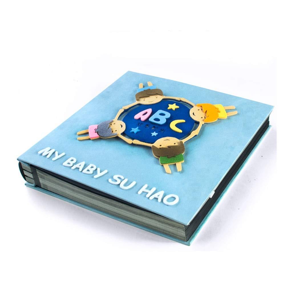 Photo Albums Album Book Album Paste Photo Organizer Family Large Capacity Photo Company Best Gift (Color : Blue, Size : 33325cm) by Photo Albums