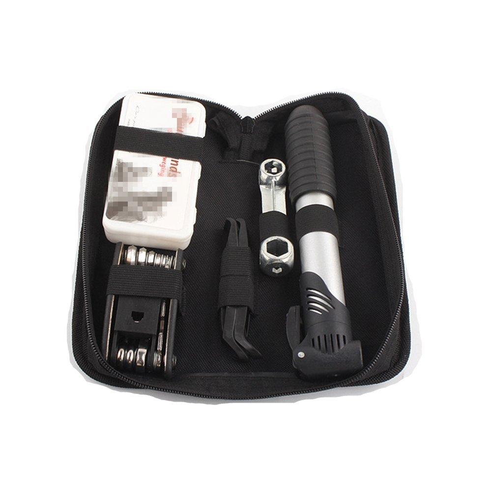 Mrsrui Bicycle Repairing Tool Kit Set, All in 1 Multi-Functional Bike Tyre Repair Kit Bag Patch Pump