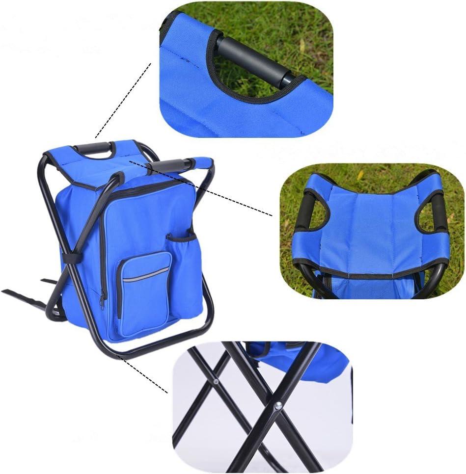 Basong Chaise Pliante /& Sac /à Dos pour Camping//P/êche//Pique-Nique//Plage//Peindre en Ext/érieur Oxford Etanche