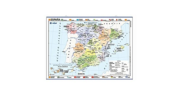 MAPA POSTER ESPAÑA FISICO/POLITICO (TUBO): 8436029296858: Amazon.com: Books