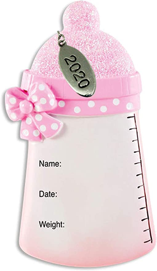 First Christmas 2020 Ornament Resin Amazon.com: Twisted Anchor Trading Co Baby Girl Ornament Pink