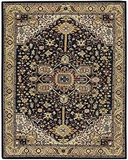"product image for Capel Smyrna-Serapi Ebony Yelloy 9' 6"" x 13' 6"" Rectangle Hand Tufted Rug"
