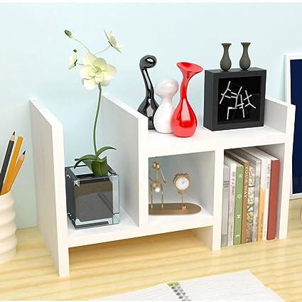 Bookshelf Bookcase Modern Minimalist Shelves Desktop Racks Storage Children S Small Desk Combined