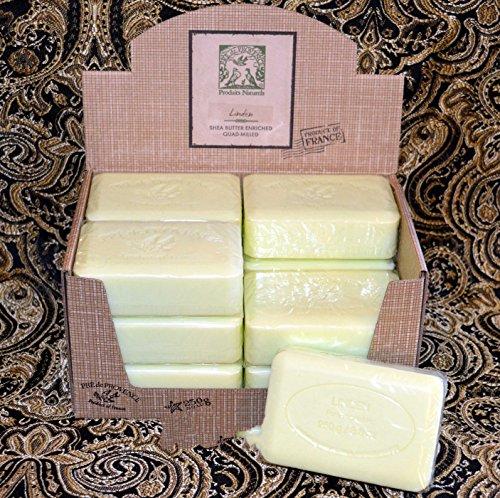 Case of 12 Pre de Provence Linden 250 gram shea butter extra large soap bars