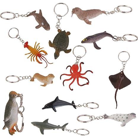 12pcs Marinos Llaveros De Animales: Amazon.es: Hogar