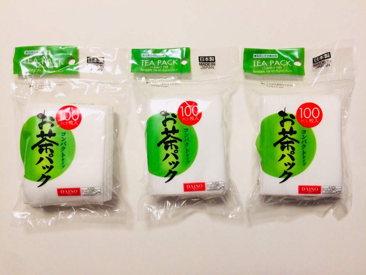 Hard type DAISO 3x100pcs Disposable Filter Bags for Loose Tea