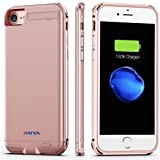 IPhone 7 Battery Case,Patea Portable iPhone7 Charger Case Ultra thin High-grade Metal Frame Li-Polymer[4000mAh],Iphone7 Power Pack/bank Back Up with Stand 4.7 inch for iphone7 Juice bank (Rose Gold)