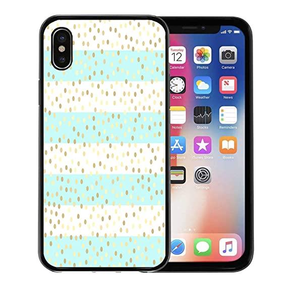Amazon Com Emvency Phone Case For Iphone Xs Case Green Dot Gold