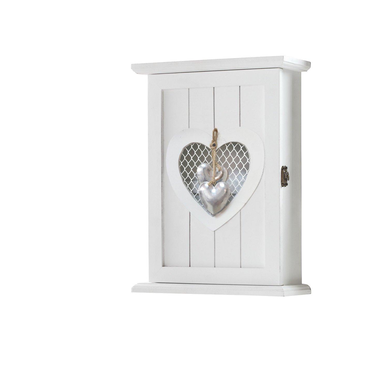 Boîte à clés Cœur blanc