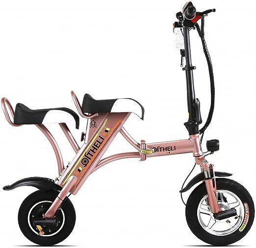 DHG Pequeña Bicicleta Eléctrica Plegable Mini Batería Femenina ...
