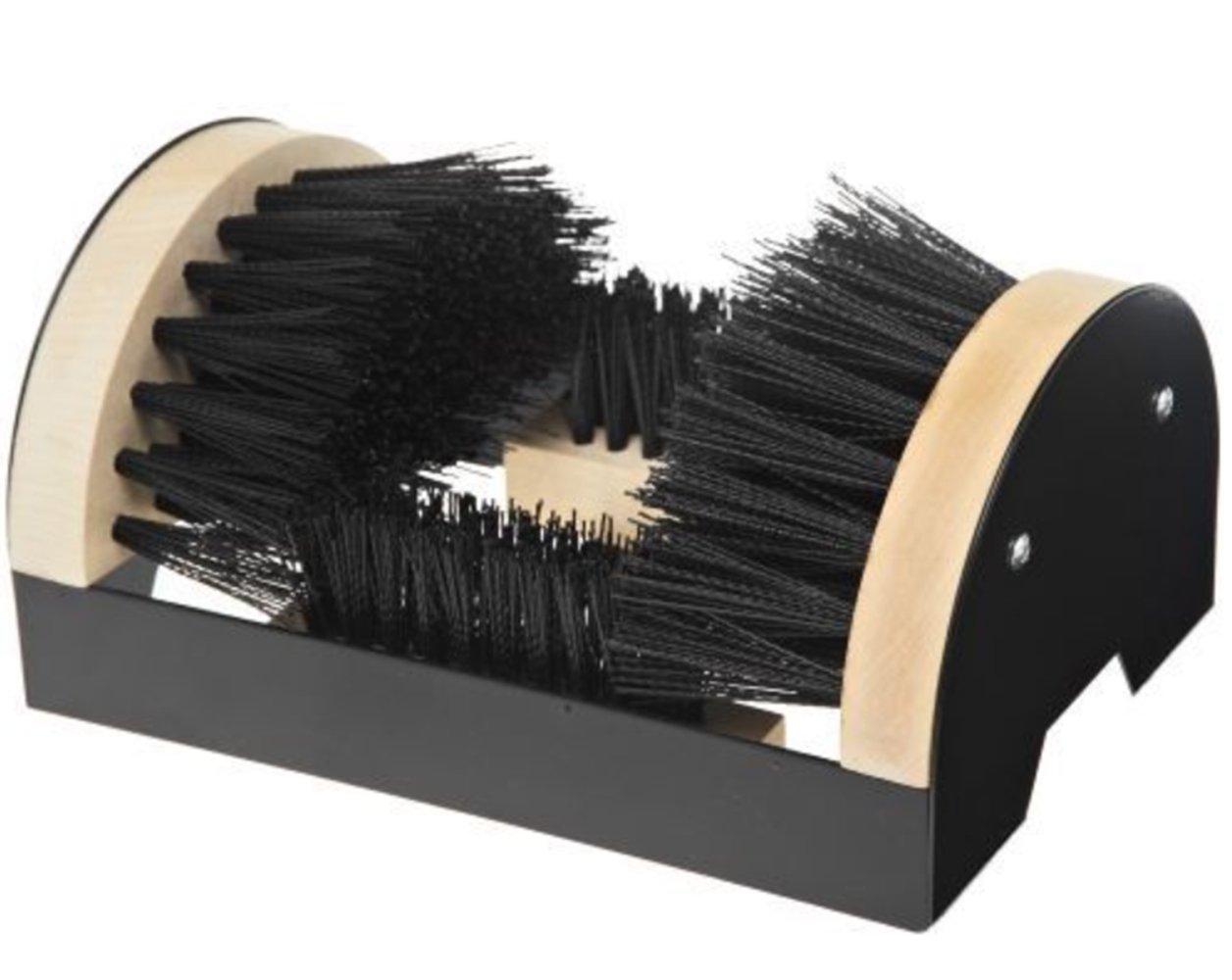 Fasmov Floor Mount Scraper Shoe Boot Cleaning Brush Permanent Mounting Hardware Indoor/Outdoor Use