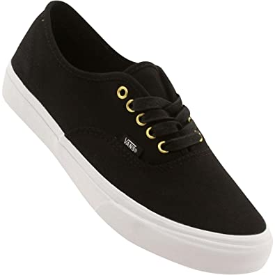 4f292fe63e422 Amazon.com | Vans Unisex Authentic Slim Gold Pop Sneakers twillblack ...