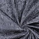 Fabulous Fabrics Pannesamt dunkelgrau – Weicher SAMT Stoff zum Nähen von Kleider, Oberteile, Tücher und Tischdecke - Pannesamt Dekostoff & Bekleidungsstof- Meterware ab 0,5m