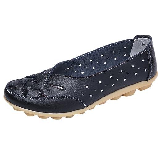 82cb87c42a4d6 Amazon.com: Women Flats Sandals Lady A Pedal Flat Shoes Leather ...