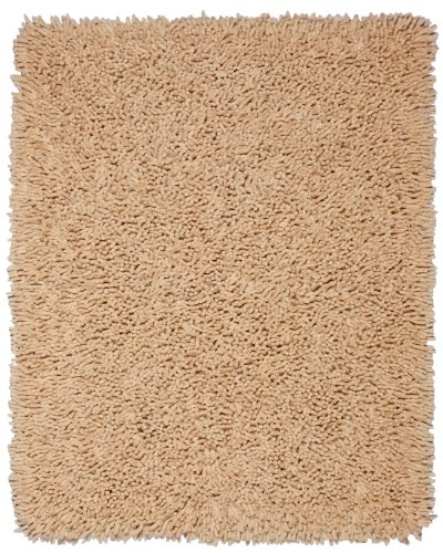 - Anji Mountain 5-Foot-by-8-Foot Silky Shag Rug, Beige