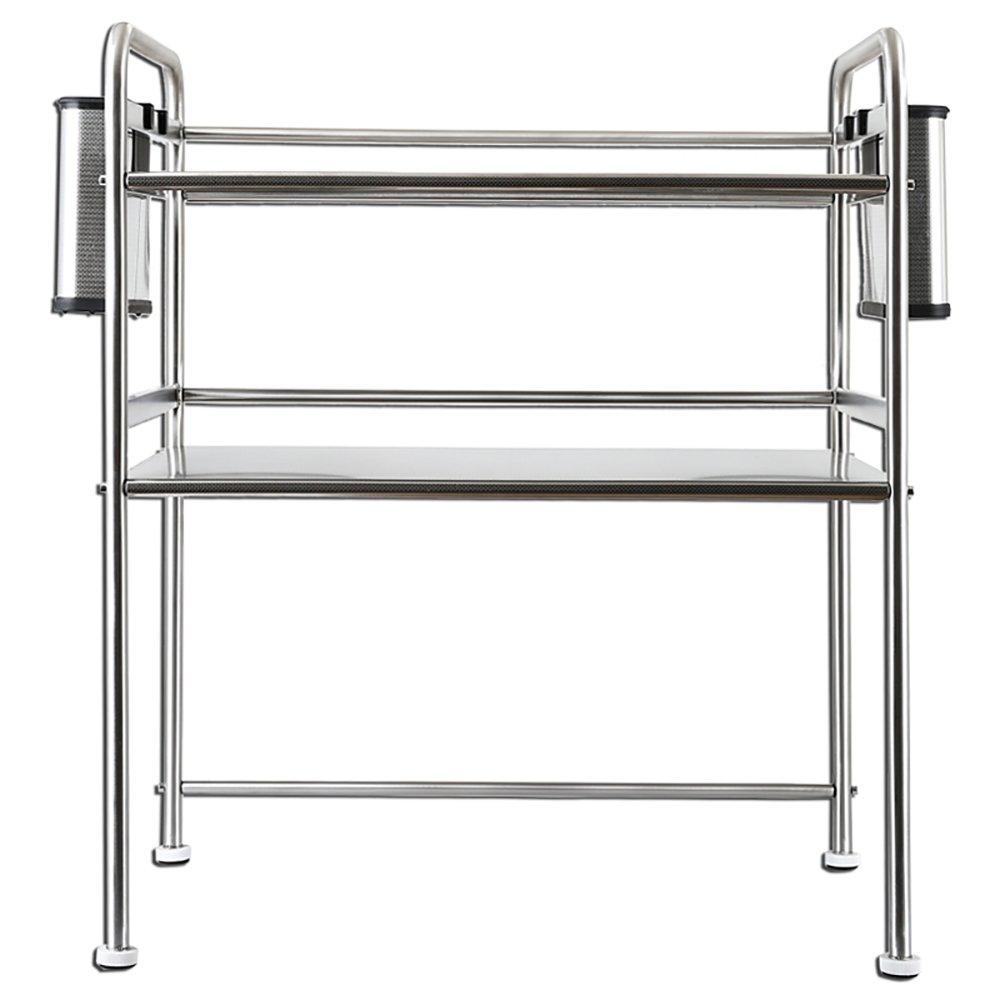 LHR Scaffale a forno a microonde in acciaio inox, ripiano a mensola, con carico 70 kg (argento) QING MEI