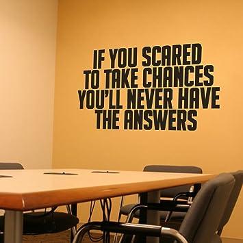 Wenn Sie Angst Um Chancen Inspirierende Englische Wörter Wand