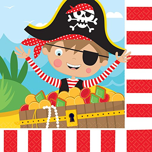Little Pirate Luncheon Napkins (16ct) (Luncheon Pirate Party Napkins)