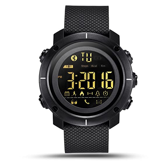LEMFO LF19 Smart Watch IP68 Waterproof 5ATM Call SMS Notification Sport Smartwatch for Men with LED