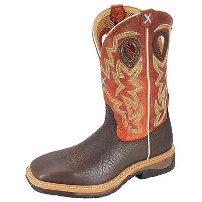 Twisted X Men's Orange Lite Cowboy Work Boot Steel Toe Brown 11 D(M) US | Industrial & Construction Boots