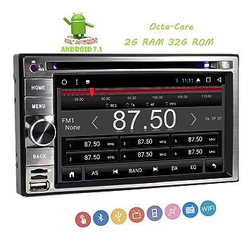 EinCar Android 7.1 estéreo FM/AM Radio de coche 2DIN 6,2 pulgadas capacitiva