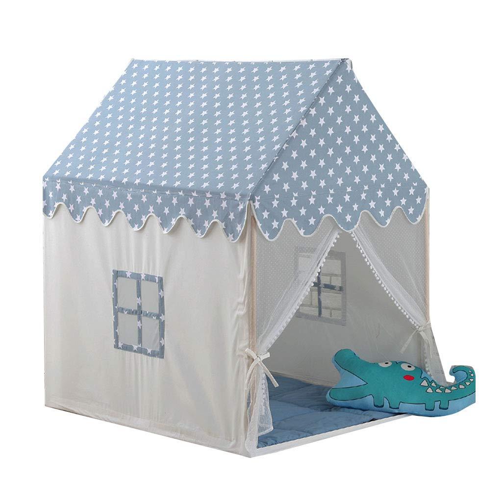 キッズテント 子供のテント城プレイハウス ホームボーイガールポップアップテントのおもちゃの家 屋内通気性のゲームハウステント 子供の誕生日プレゼントを送る キッズテント (Color : Blue, Size : 95*125*140cm) B07MXRB33M Blue 95*125*140cm