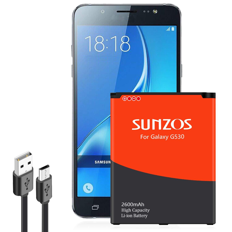 Bateria Celular Galaxy J3 SUNZOS 2600mAh Li ion para Samsung Galaxy J320A J320V EB BG530BBU EB BG530BBE J5 G530P 3 s