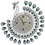 Peacock Wall Clock Home Goods Home Decoration Modern Clock(1381-BLUE) Review