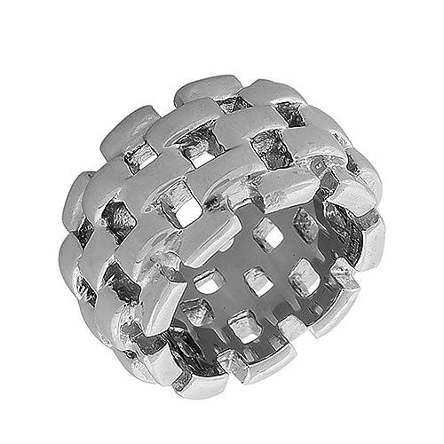Amazon.com: edforce Acero Inoxidable Silver-tone Cadena de ...