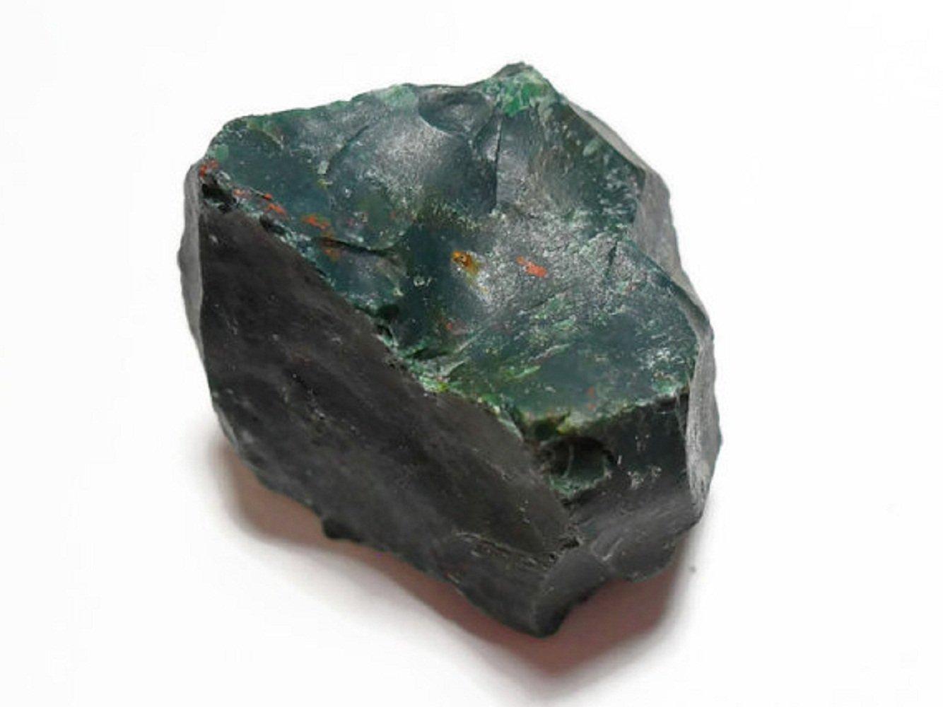 Azaina_wor Collectibles 1000 Carat Lot Bulk Natural Rough Bloodstone Rock Stone (Crystal Healing Raw)