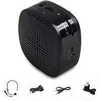 NIERBO Amplificador de Voz Recargable portátil Mini con Auricular de micrófono y Pretina, admite Audio de Formato MP3 para Maestros, Canto, Entrenadores, capacitación, presentación, guía de Turismo
