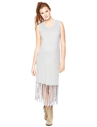 e2e05184ab31f Motherhood Wendy Bellissimo Fringe Maternity Dress at Amazon Women's  Clothing store: