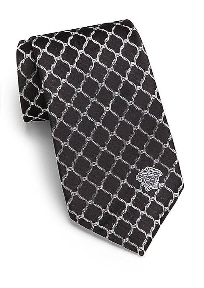 Versace Men's Tie With Medusa Head 100% Silk VER-0004