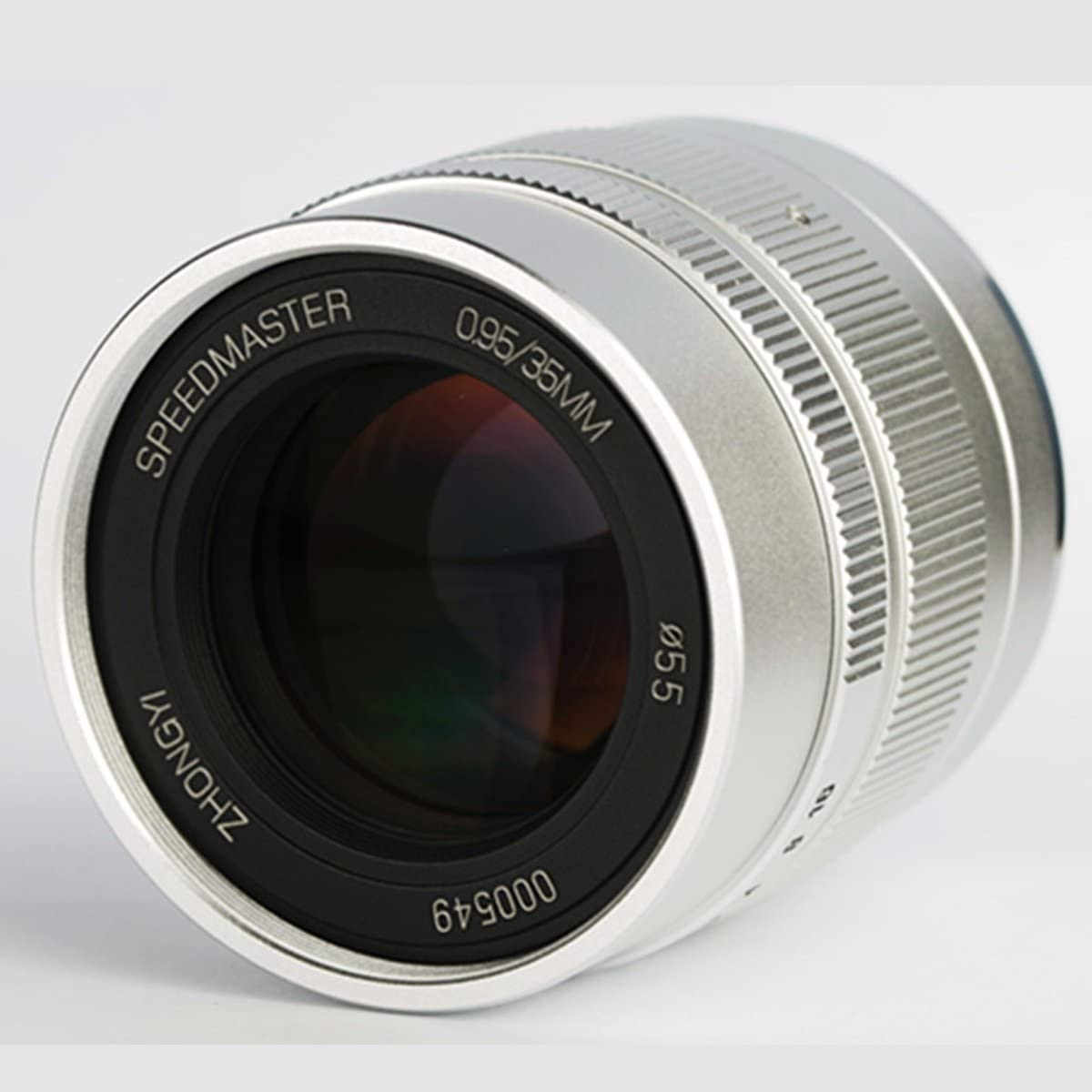 zhongyi 35mm f//0.95 Black Color 55mm Vented Curved Metal Lens Hood Compatible Fuji//Sony//Canon//Leica