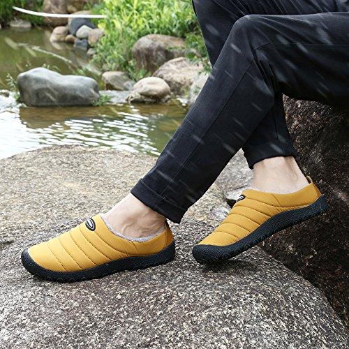 Sitaile Indoor Outdoor Slippers Voor Vrouwen Mannen Bont Thuis Slippers Waterdicht Winter Slip Ons Huis Schoenen Camal