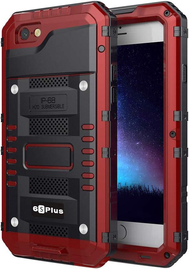 Beeasy Coque iPhone 6 Plus/ 6s Plus Étanche,Antichoc Protecteur d'écran Intégré Qualité Militaire Robuste Résistant Metal IP68 Antipoussière Anti ...