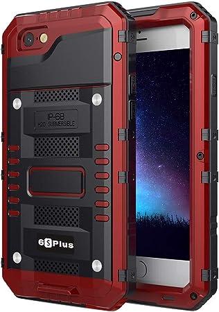 Beeasy Cover iPhone 6 Plus Impermeabile Antiurto Rosso, iPhone 6S Plus IP68 Waterproof Custodia Protettiva Full Body con Protezione dello Schermo, ...