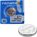 2 x Renata Wrist Watch battery - Swiss Made - Batteries Cells Silver Oxide 0% Mercury Free Button Cell 1.55v Renata Long Life Batteries (371 (SR920SW))