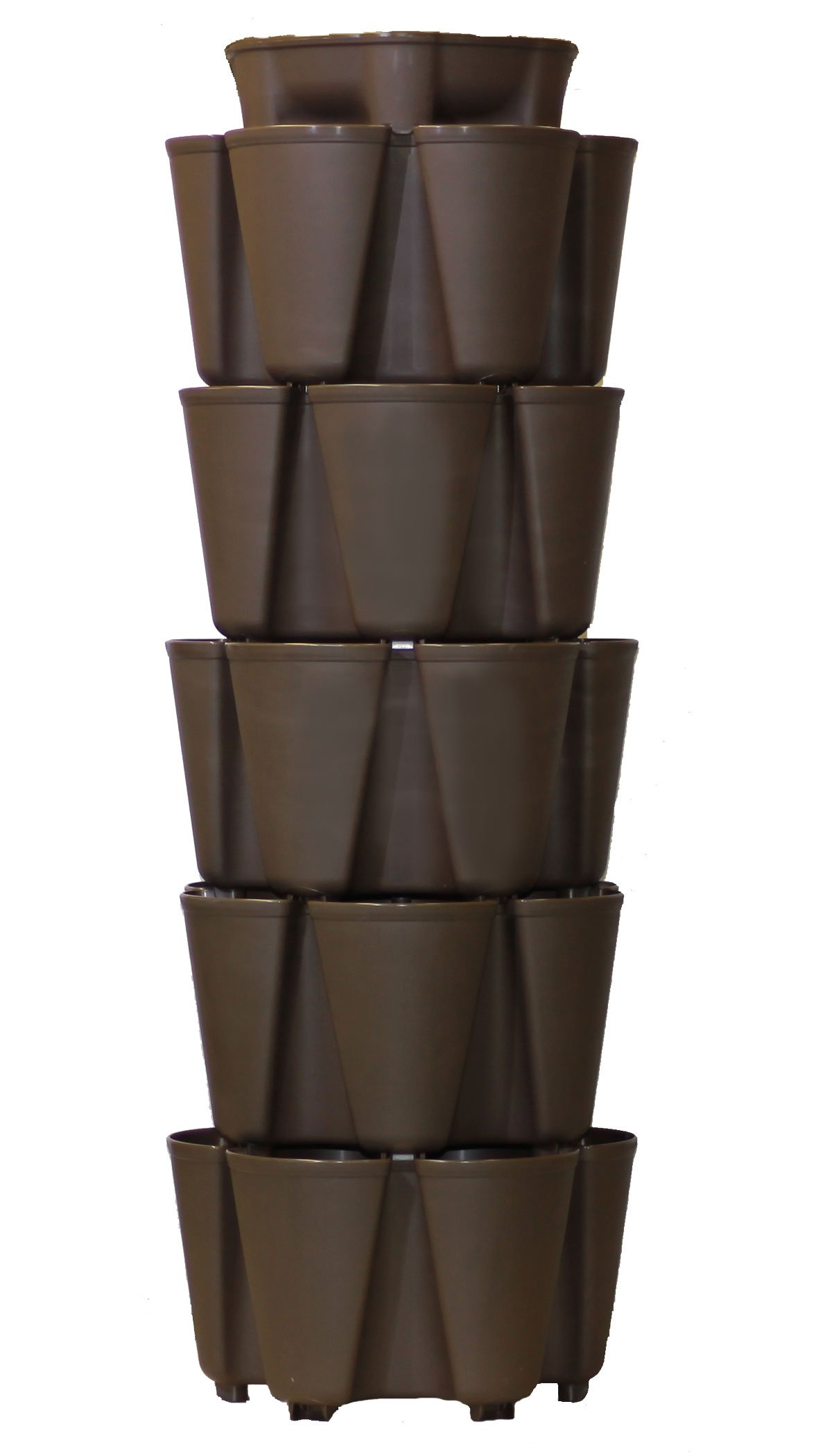 GreenStalk Patented Large 5 Tier Vertical Garden Planter with Patented Internal Watering System Great for Growing a Variety of Strawberries, Vegetables, Herbs, & Flowers (Chocolate Brown)