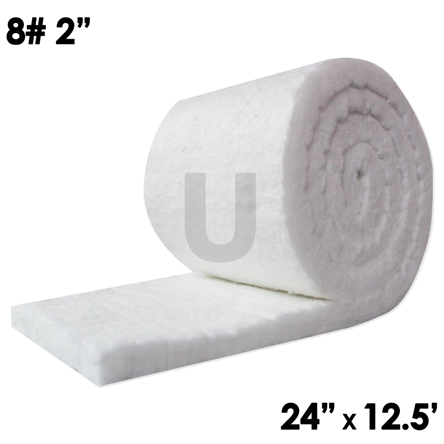 1//2 x 19.7 x 39.4 Kilns Furnaces Forges Ceramic Fiber Board Insulation 2300F Stoves for Wood Ovens