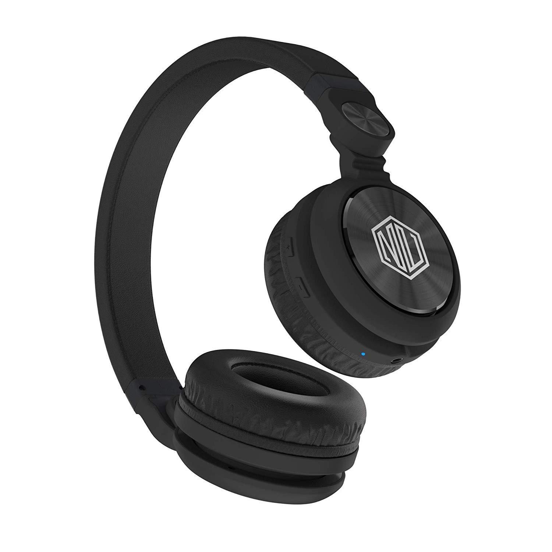 Nu Republic Starboy X-Bass Wireless Headphone with mic (Black)